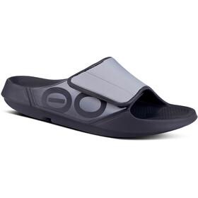 OOFOS Ooahh Sport Flex Sandals, zwart/grijs
